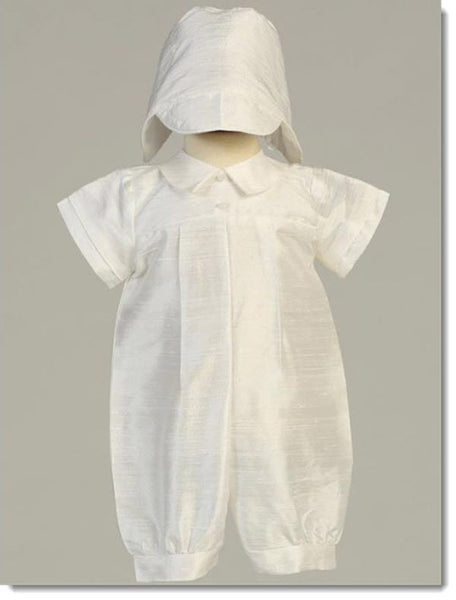 Conner - Silk Christening Romper
