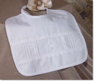 Boy's Cotton  pintucked bib - Little Angels Couture