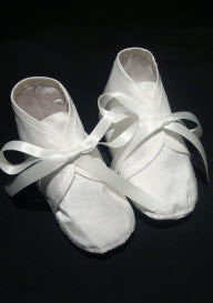 DE silk booties with Ribbon - Little Angels Couture