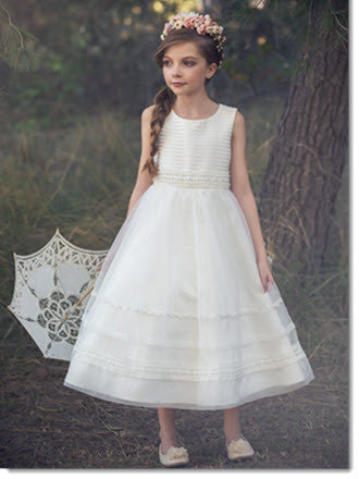 EK 13 Organza First Communion or Flower Girl Dress