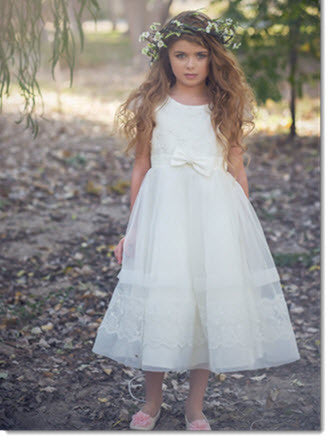 EK 16 Lace Dress with organza skirt
