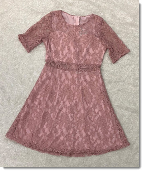 EK 203 Lace Dress with Sleeves