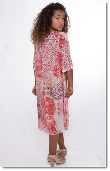 EK 207 Hi Low Boho Dress