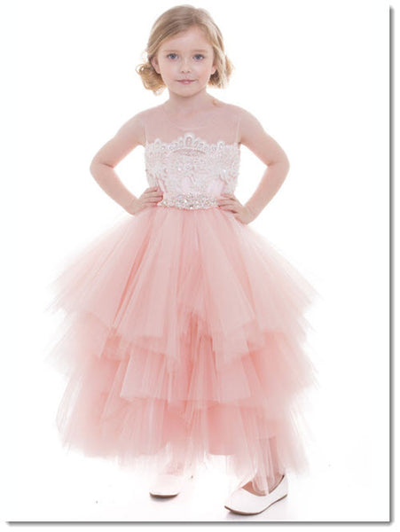 EK 28  -  Multi tiered Flower Girl Dress