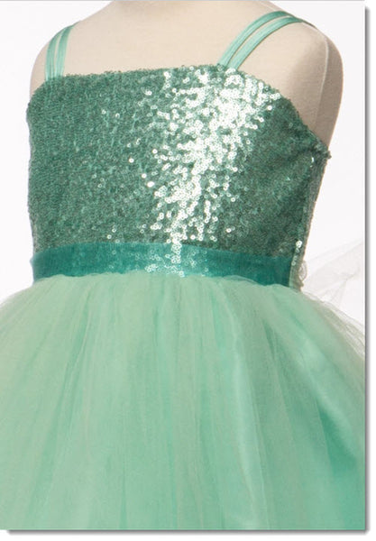 EK 30 - Sequin dress with tulle skirt
