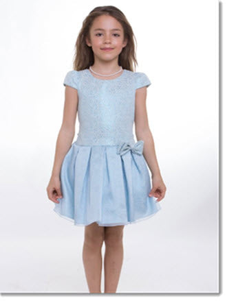 EK 42 Jacquard Pleated Short Dress with Organza overlay