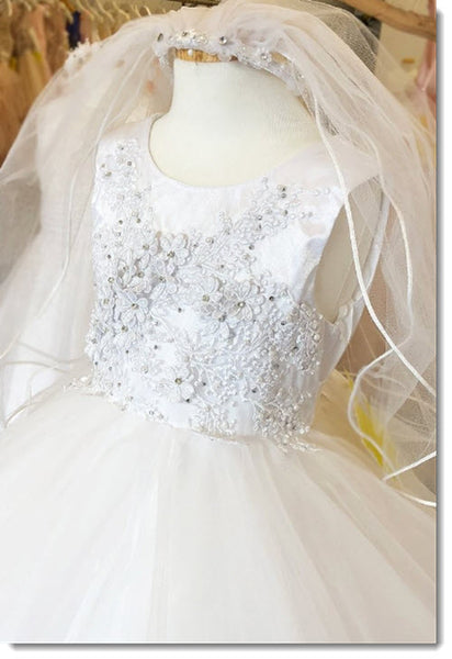 EK 53 Gorgeous hand beaded bodice with tulle