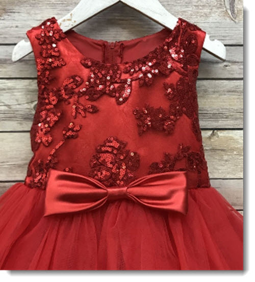EK 54 Sequinned Bodice dress