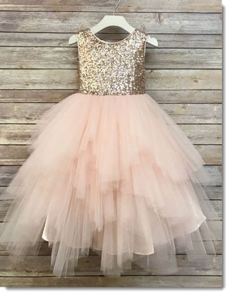 EK 55 Sequined Bodice with Multi Tiered skirt