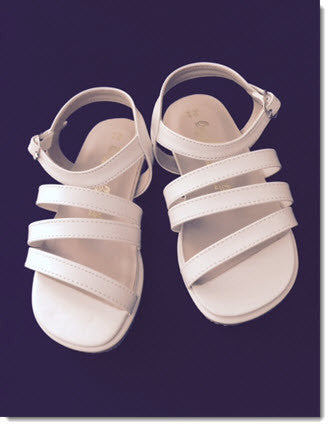 Girls white sandles 294 - Little Angels Couture