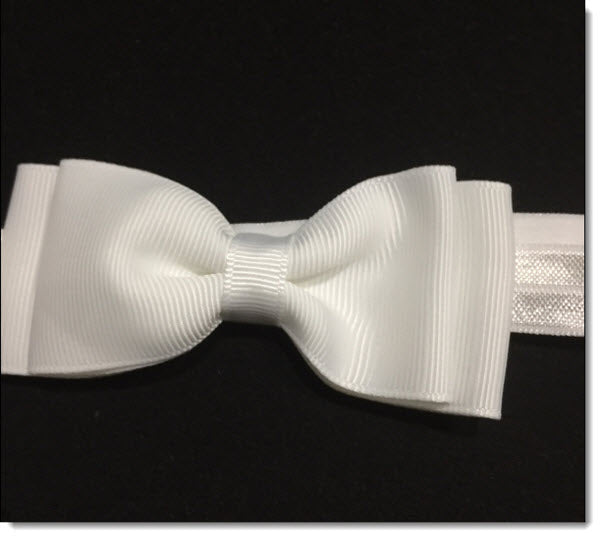 Classic Grosgrain Bow Christening Headband