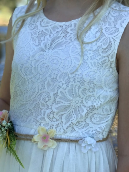 Delilah Lace Dress - Ivory
