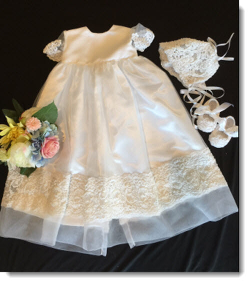 Kayla IP Christening Gown with Beading