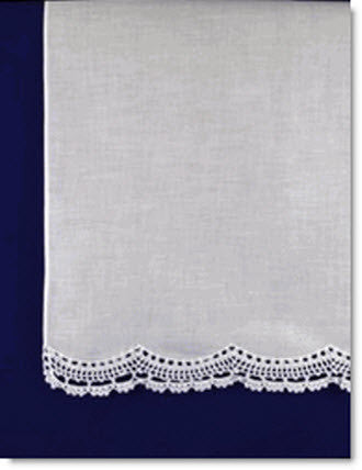 Lace edged towel - Little Angels Couture