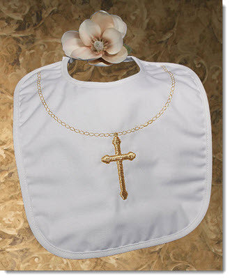 Large Gold Cross Bib - Little Angels Couture