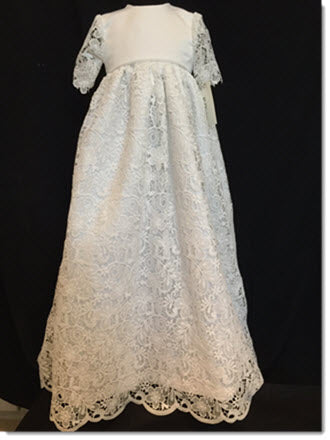Lisa Ax Guipure Lace Christening Gown