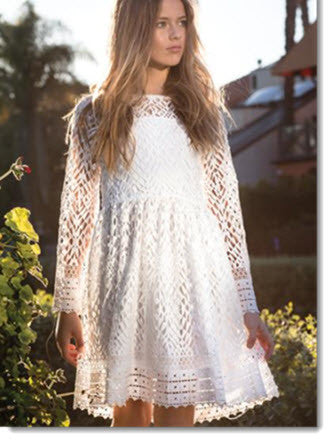 Diamond Lace Dress - Lola