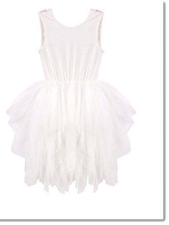 Melody Tulle Dress - Ivory