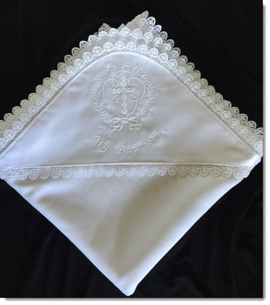 My Baptism Blanket - Cross Lace