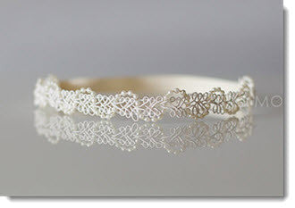 Ivory Pearl lace headband - Little Angels Couture