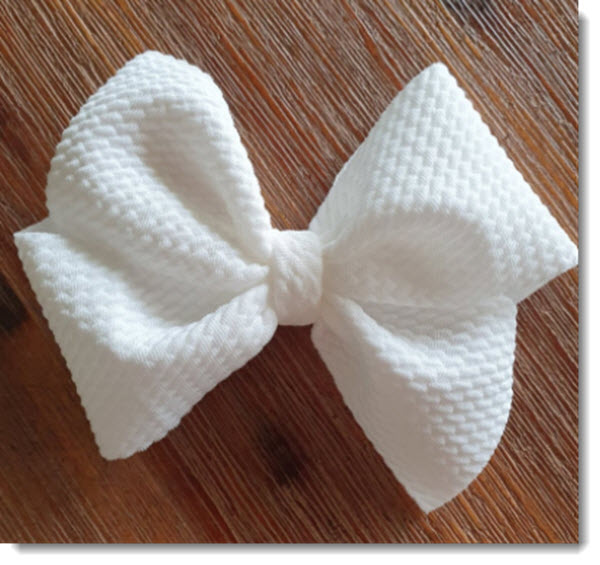 Pinwheel fabric bow