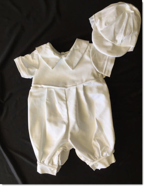 Pipo M  -  All White Boys Cotton Spandex Romper
