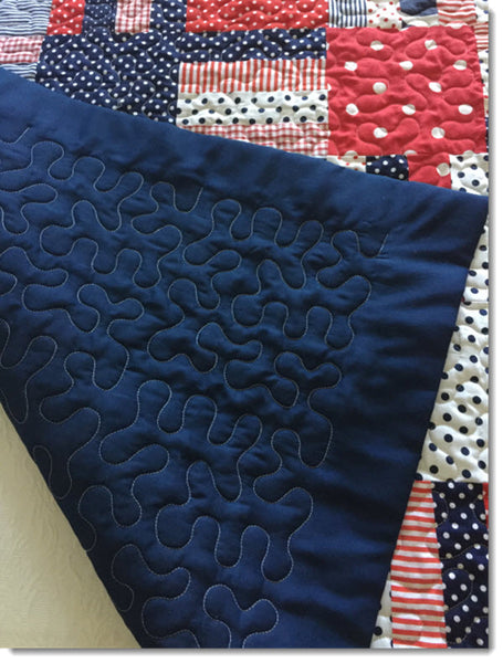 Patchwork Cot Quilt/Play Mat - Red White and Blue