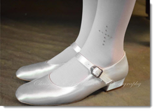 773 -Sabrina - white satin shoes