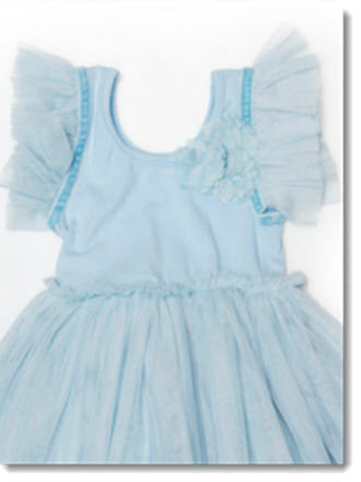 Tulle Sleeve Dress - Little Angels Couture - 2