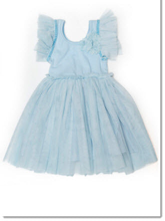 Tulle Sleeve Dress - Little Angels Couture - 1