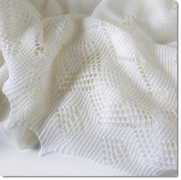 Super-fine Merino Wool Christening Shawl