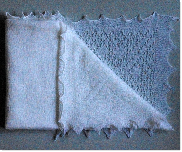 Lacy Pure Wool Baby Shawl