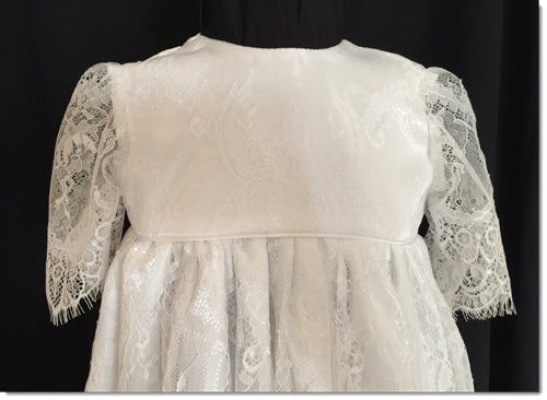 Abbey CZ - Chantilly Lace Christening Gown