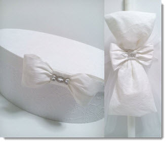 Christening Box - All White Silk and Lace set