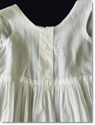 Antique baby slips fine white linen - Little Angels Couture - 2