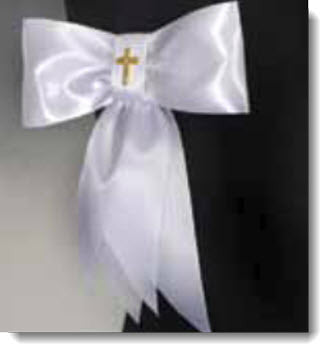 Armband Satin ribbon with Gold Cross - Little Angels Couture
