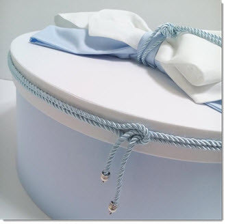 Christening Box - Baby Blue/ White - Little Angels Couture - 2