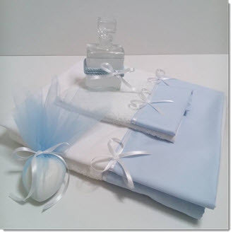 Lathopana - Baby Blue/White - Little Angels Couture