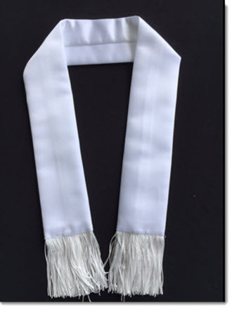 Satin Stole with fringe - Little Angels Couture - 1