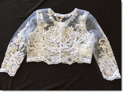 Beaded long sleeve bolero
