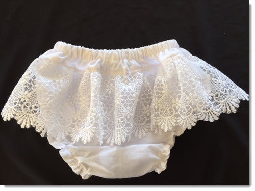 Cotton bloomers with Long Lace
