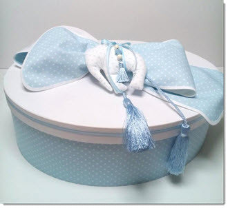 Christening Box -  Polka Dot Elephant - Little Angels Couture - 1