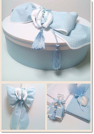 Christening Box -  Polka Dot Elephant - Little Angels Couture - 2