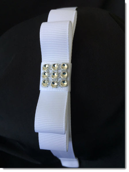 Grosgrain Bow with Diamante headband