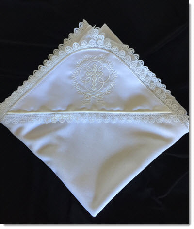 Baptism/ Christening Blanket with Lace trim