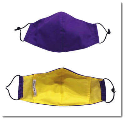 Purple/Yellow Face Mask w/ Filter Pocket