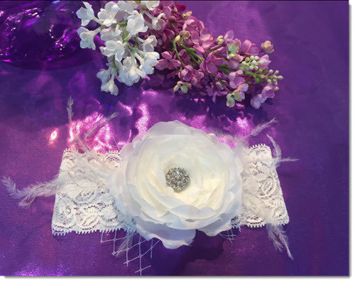 Freesia - Christening Headband