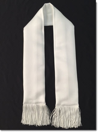 Satin Stole with Fringe