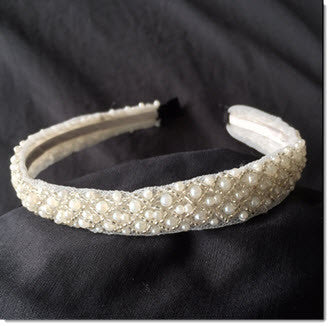 Pearl Headband - Little Angels Couture - 1