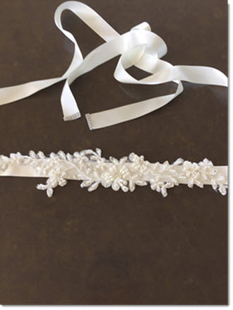 Ribbon Belt with Pearls